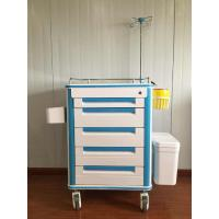 China Doctor 5 Inch Caster Wheel Medical Storage Hospital Trolley Medication For Emergency on sale