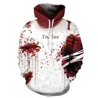 Wholesale Unisex Hoodies Binmer Mens Women I'm Fine Halloween Sweatshirt Long Sleeve Casual Hooded Pullover Tops from china suppliers