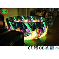 Wholesale Iron Cabinet 1R1G1B P4 Circle Flexible Led Screen SMD2121 from china suppliers