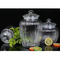 Wholesale 1350ml Capacity Glass Jam Jar With Lid / Durable Glass Jar For Spicy Beans from china suppliers