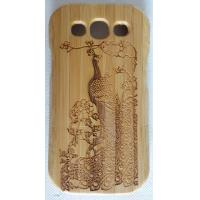 China Samsung Cell Phone Cases , Carved  Wooden Phone Cases Bright Colors on sale