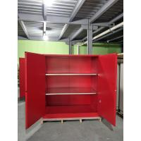 Wholesale Red Flammable Paint Storage Cabinets Adjustable Shelf For Chemical Hazardous from china suppliers