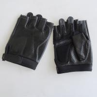 Buy cheap Outdoor Fingerless Leather Driving Gloves Customized Size Designs Eco - Friendly from wholesalers