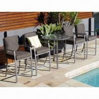 Wholesale Aluminum Patio Furniture with Portifino Cushion Bar Chair, Available in 5-piece Set from china suppliers