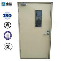 Wholesale Steel Interior Fireproof Door With Glass Insert For Commercial Buildings And Hospitals from china suppliers