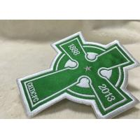 Wholesale Beautiful Oval Custom Clothing Patches Embroidered Sew On Badges Eco - Friendly from china suppliers