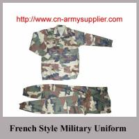 Buy cheap Camouflage Desert Army Green Military  French Style Uniform F1 F2 Uniform from Wholesalers