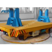 Wholesale 16 ton Workshop Rail Material Handling Trailer with Turntable with PLC System from china suppliers