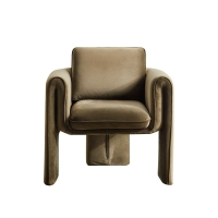 Wholesale Single 75*82*70cm Beige Velvet Armchair Living Room Sofa from china suppliers