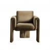 Buy cheap Single 75*82*70cm Beige Velvet Armchair Living Room Sofa from wholesalers