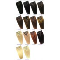 Clip in Human Hair Straight Wavy Clip in Hair Extensions for Black Women for sale