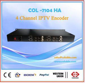 China Hotel IPTV system 4 ch HDMI/AV H.264 IPTV encoder in UDP RTMP HTTP COL7104HA on sale