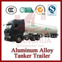 China 45000L tri-axle Fuel Tanker Aluminum Trailer For Sales on sale