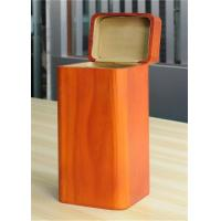 Wholesale Handmade Wood Jewelry Boxes For Women Large Storage Case , Orange Color from china suppliers