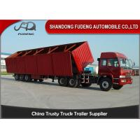 Wholesale Transport Cement 3 Axle Capacity 60t Dump Semi Trailer from china suppliers