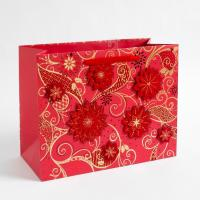 Wholesale Multilayer 157 Gram Art Paper Gift Bags Custom Printed , Shopping Gold / Silver Hot Stamping from china suppliers