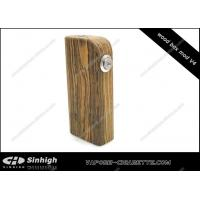 Wholesale Wooden Dual 18650 Battery Box Mod , Golden Color Copper Spring Wooden Mod from china suppliers