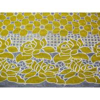 Buy cheap Cotton Yellow Polyester Lace Fabric Floral with Eco-friendly Dyeing(CY-DK0032) from Wholesalers