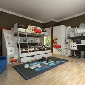 Wholesale E0 Grade Bunk Bed/Kids' Bedroom Set/Children Furniture/Wooden Bedroom, Car, Disney, Ladder Chest from china suppliers
