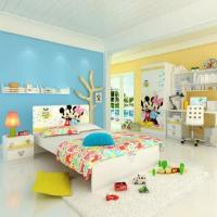 Wholesale E0 Grade Kids'/Children's Bedroom Furniture, with MDF Material, Desk, Chair, Carton Figure Printing from china suppliers