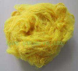polyester staple fiber yellow