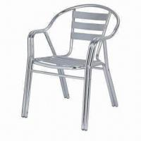 Wholesale Aluminum Patio Furniture with Shining Surface Finish, Measuring 59 x 59 x 81cm from china suppliers