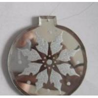 China Glass mirror ornament for xmas decoration on sale