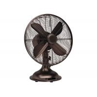 Buy cheap Portable Metal Table Fan For Living Room Oil Rubbed Bronze Finish 4 Blades from wholesalers