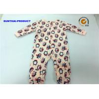 Wholesale Penguin Applique Baby Girl Coverall 100% Polyester Micro Fleece Pram Suit from china suppliers
