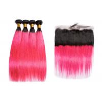 Buy cheap Brazilian Long 1BPink Human Hair Straight No Tangle No Shedding from wholesalers