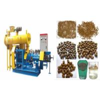 Wholesale Blue/yellow Fish Feed Pellet Extruder with 0.18t/h-5t/h production from china suppliers