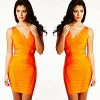 China New Fashion Popular Hot Selling Waist Hollow Out Sexy Bodycon Summer Bandage Dress on sale