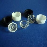 Buy cheap Single LED Lens with 25° Viewing Angle, 19.4mm Diameter and 12mm Height from wholesalers