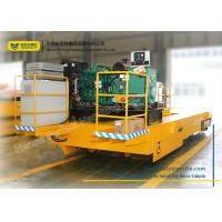 Wholesale Steel Structure Flat Industrial Transfer Trolley , Solid Rail Transport Van with Low Table from china suppliers
