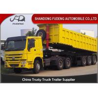 Wholesale 30 Cubic Meters Landing Gear 28t Dump Semi Trailer from china suppliers