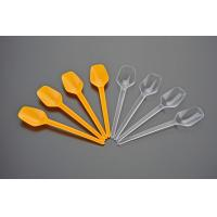 Wholesale 15 cm disposable spoon hard plastic scoop of ice cream scoop in clear or yellow color from china suppliers