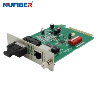 Wholesale TX To FX SC Fiber Media Converter , Fast Ethernet Media Converter from china suppliers