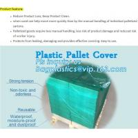 Wholesale customized PE pallet cover bag, Waterproof pallet covers/ Poly Bags, Plastic Pallet Covers Gusseted Pallet Covers Pallet from china suppliers
