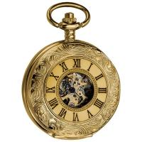 China Antique Gold Pocket Watches / mechanical pocket watch for Adult , Mechanical Movement on sale