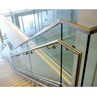 Wholesale Aluminum u base channel glass railing with stainless steel top handrail from china suppliers