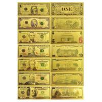 China $1 $5 $10 $20 $50 $100 24k Gold Foil American Banknote on sale