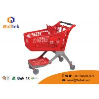China Pure Plastic Supermarket Shopping Trolley Convenient Loading Capacity 80-160kg on sale