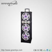 Dj bass Triplicate 3inch treble 10 inch class-D led light portable bluetooth speaker with usb