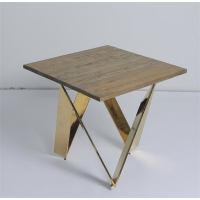 Buy cheap New Style Living Room Wood Top Coffee Table With X Shaped Crossed Design Metal from wholesalers