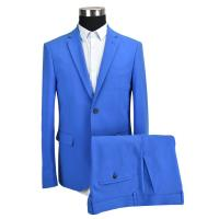 Wholesale Adults Slim Fit Tailored Suits Men'S Blue Business Pure Color OEM Service from china suppliers