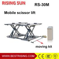 China 3Ton pneumatic used middle rise mobile car lift for auto garage on sale