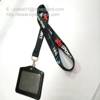Flat sublimation lanyard with leather card badge