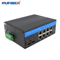 Wholesale FCC Managed 8 Port Switch With 2 Sfp DIN Rail Mount Support Link Monitoring from china suppliers