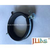 Heavy / Light Pipe Pipe Strap Clamp Cast Iron Welding Type Clamps M8 + 10 With Rubber