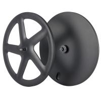 Quality Front Five Spoke Rear Carbon Disk Wheel 700C Fixed Gear 23mm Width Rims for sale
